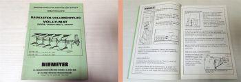 Niemeyer 2003/Mais 3003 Volly-Mat Pflug Betriebsanleitung Ersatzteililste 1982