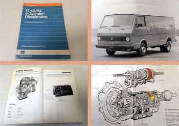 SSP 22 VW LT40 LT45 6-Zylinder Dieselmotor Konstruktion Funktion 1978