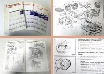 Werkstatthandbuch Mitsubishi Lancer Wagon 1989-91 Reparaturanlei