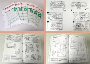 Mitsubishi Pajero Pinin 2000-2003 Karosserie + Schaltpläne Elektrik Verdrahtung