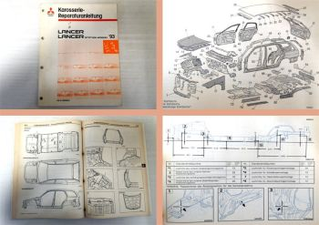 Werkstatthandbuch Mitsubishi Lancer + Kombi ab 1993 CB CD Reparatur Karosserie