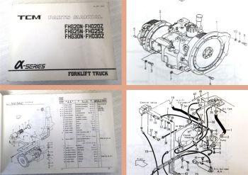 TCM FHG20N/25N/30N FHD20Z/25Z/30Z Forklift Truck Parts List
