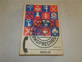 2 Telefonbücher Branchen + Fernsprechbuch Berlin 1975 DDR Deutsche Post