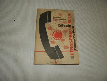 Fernsprechbuch Döbeln u. Umgebung 1975 Telefonbuch Deutsche Post