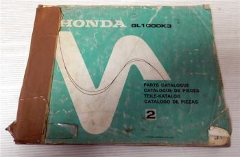Ersatzteilkatalog Honda Goldwing GL1000 K3 Ersatzteilliste 1978