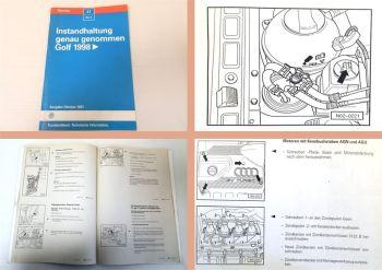 Reparaturleitfaden VW Golf 4 ab 1998 Instandhaltung Werkstatthandbuch