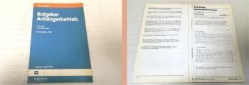 Werkstatthandbuch VW + Audi ab 1984 Ratgeber Anhängerbetrieb 198