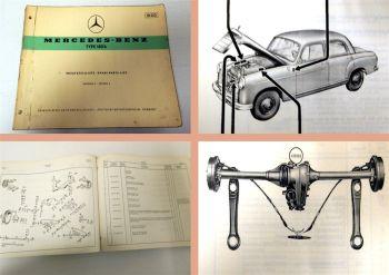 Ersatzteilkatalog Mercedes Benz 180b Ersatzteilliste 1959 Bm120
