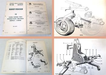Ersatzteilkatalog Massey Ferguson MF 30 Drehpflug MF30 Ersatzteilliste 1968