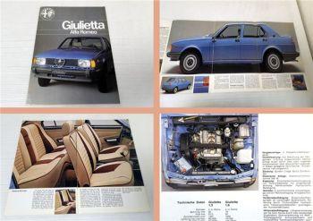 Alfa Romeo Giulietta Prospekt ca 1977