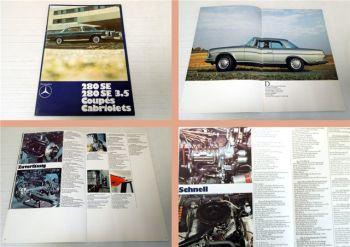 Mercedes Benz 280SE, 280SE 3.5 Coupe Cabriolet Prospekt1969