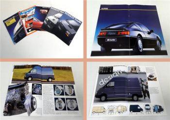 Renault Trafic, Master, Espace, Renault 4 Prospekt 5x 80er/90er