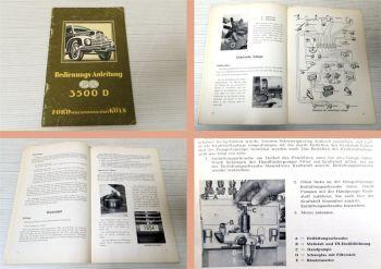 Betriebsanleitung Ford 3500D Diesel-Lastwagen Bedienung 1954