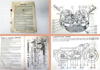 AJS Motorcycle 2-cylinder models Operating Manual Maintenance ca