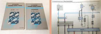 Werkstatthandbuch Toyota Avensis Verso / Picnic Schaltpläne Elektrik 2001 2003