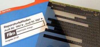 Reparaturleitfaden Audi 80 90 B3 Elektrische Anlage Radio Schalttafel Kabel Film