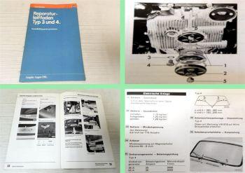 Reparaturleitfaden VW Typ 3 / 4 1500, 1600, 411, 412 ab 1968 Instandhaltung 1981