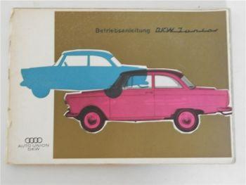Betriebsanleitung Auto Union DKW Junior / de luxe Bedienung Wartung 1961