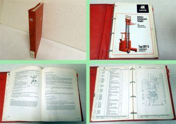 Lansing ERT5 Schubmaststapler Betriebsanleitung Ersatzteilliste Wartung ca 1972