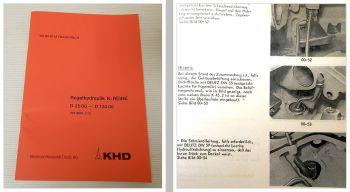 Deutz 3006 4006 4506 5006 5506 6006 ... 13006 Werkstatthandbuch Regelhydraulik