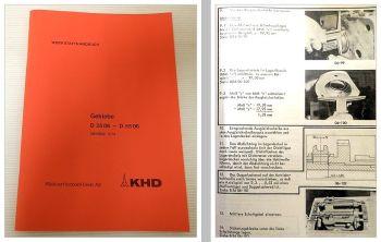 Reparaturanleitung Deutz D 2506 - 5506 Werkstatthandbuch Getriebe 1973