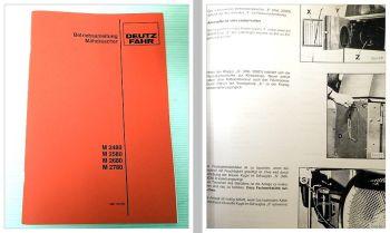 Bedienung Wartung Deutz M2480 2580 2680 2780 Betriebsanleitung 1986 Schaltplan