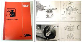 Deutz DX 3.10 3.30 3.50 3.60 SC SR VC Getriebe TW 510, 511, 520, 521 Schulung