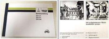 Bedienung Deutz DX 4.31, DX 4.51, DX 6.06 Betriebsanleitung 1991