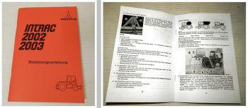Deutz Intrac 2002 2003 Bedienungsanleitung inkl. Allradausführung u. Schaltplan