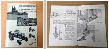 Bedienung Wartung Deutz D30, Deutz D30S Betriebsanleitung 1961