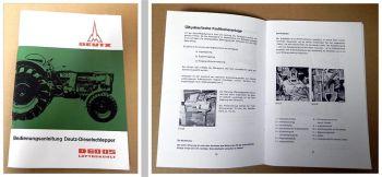 Betriebsanleitung Deutz D 6005 Dieselschlepper Bedienung Wartung 1966