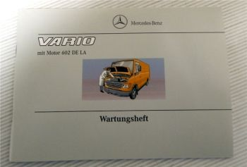 Mercedes Benz Vario Wartungsheft 2002