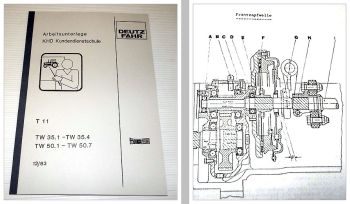 Deutz Getriebe Triebwerk TW 35.1 - 35.4 / 50.1- 50.7 Schulungshandbuch