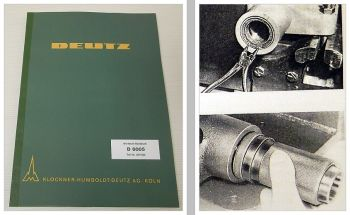 Reparaturanleitung Deutz D 6005 Schlepper luftgekühlt Werkstatthandbuch