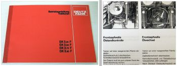 Deutz DX 3.30F 3.50F 3.70F 3.90F Betriebsanleitung 1987