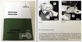 Deutz D 5206, 6206 Traktor Betriebsanleitung 1976