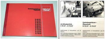 Deutz D 4007 4507 4807 5207 6007 6507 7007 7207 7807 Betriebsanleitung 1982
