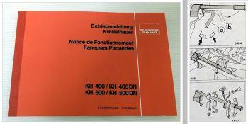 Deutz KH400 KH500 Kreiselheuer Betriebsanleitung Notice de Fonctionnement