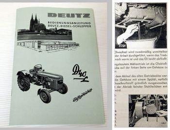 Betriebsanleitung Deutz D40L Typ D 40.2 Bedienungsanleitung 1963