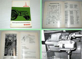 Deutz D 5005 Dieselschlepper Bedienungsanleitung 1965 Wartung Pf