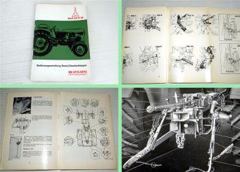 Betriebsanleitung Deutz D2505 Dieselschlepper Bedienung 1966 F2L