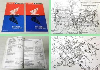 Honda ST1100L + ST 1100 M Pan European Werkstatthandbuch 1990 Reparaturanleitung