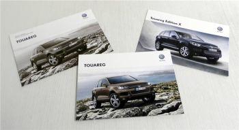 VW Touareg Broschüre / Prospekt + Preisliste 2013 + Edition X