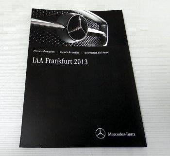 Mercedes Benz IAA Frankfurt 2013 Presseinformation + USB Stick S