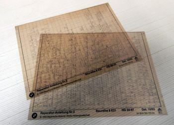 Reparaturanleitung BMW 8er E31 Werkstatthandbuch auf Microfich 1