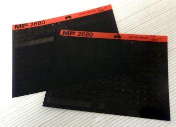 Ersatzteilkatalog Massey Ferguson MF 2680 Microfich 10/1980 Ersatzteilliste