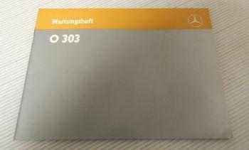 Mercedes Benz O303 Omnibus Wartungsheft 1987