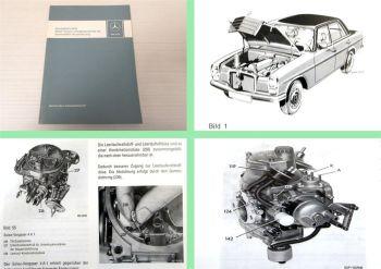 Werkstatthandbuch Mercedes Benz 230.4 280 280C 280S mit M110 M115 Schweden 1976
