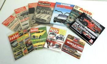 4 Bücher 8 Zeitungen muscle cars Sportwagen Das Auto Feuerwehr a