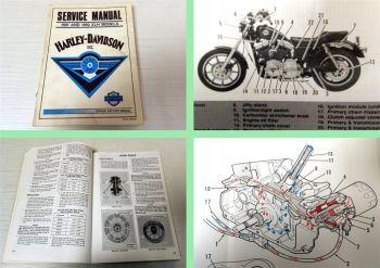 Werkstatthandbuch Harley Davidson XLH Models 1991 to 1992 Servic